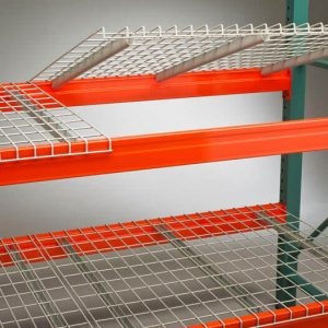 wire decking easy to install in pallet racks sold by Golden State Material Handling in the San Francisco Bay Area