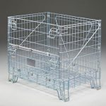 Easy access wire container fold down compartment Golden State Material Handling