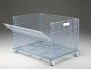 Folding wire container sold in San Francisco Bay Area
