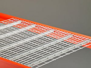 Flat flush tight mesh wire decking for pallet racks in the SF Bay Area
