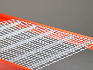 Flat flush tight mesh galvanized wire decking for warehouse racks sold by Golden State Material Handling