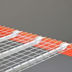 Inverted flare wire decking for pallet racks