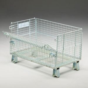 Wire container JR1 with open folding door