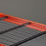 Wire decking painted black - Golden State Material Handling