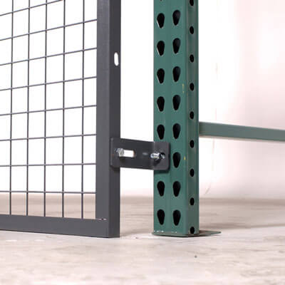 RackBack pallet rack safety panels bottom - WireCrafters sold by Golden State Material Handling