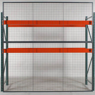 RackBack pallet rack backing safety panels, front view - WireCrafters sold by Golden State Material Handling