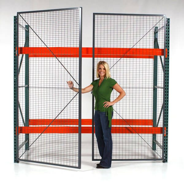 Pallet rack enclosure - WireCrafters sold by Golden State Material Handling
