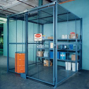 Secure storage enclosure - WireCrafters sold by Golden State Material Handling
