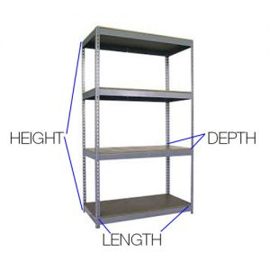 Boltless shelving for small parts sold by Golden State Material Handling in the San Francisco Bay Area