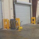 Handle It guard rails around doorway inside warehouse - Golden State Material Handling