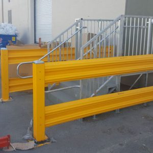Guard rails from Handle It sold by Golden State Material Handling in the SF Bay Area