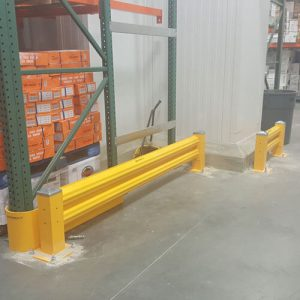 Heavy duty guard rails pallet racking in San Francisco Bay Area