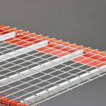Inverted wire decking for racks in warehouse