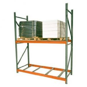 Pallet rack with loaded pallets on top - Golden State Material Handling in the SF Bay Area