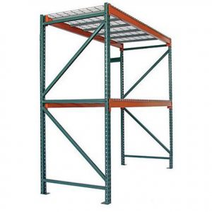 Pallet rack with wire shelving from Golden State Material Handling in the SF Bay Area