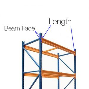 Pallet racking upright beams diagram - Golden State Material Handling in Hayward, CA