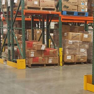 Handle-It post protector in use in warehouse - pallet racking in the SF Bay Area