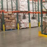Photo of four post protectors on pallet racking - Golden State Material Handling