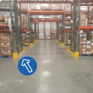Warehouse rack protectors by Handle It - Golden State Material Handling