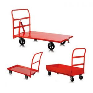 Steel platform trucks sold in San Francisco Bay Area by Golden State Material Handling