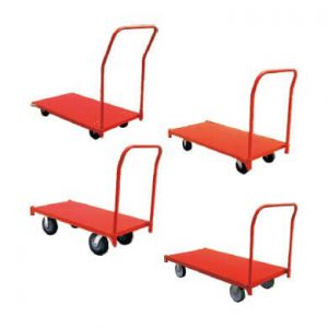 Steel platform trucks with different wheels in Hayward in the Bay Area - Golden State Material Handling