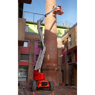 Articulating boom lift sold in the San Francisco Bay Area by Golden State Material Handling