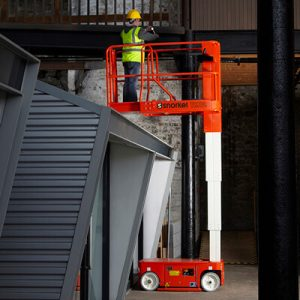Snorkel TM12 Self-Propelled Telescopic Mast Lift sold by Golden State Material Handling in the SF Bay Area