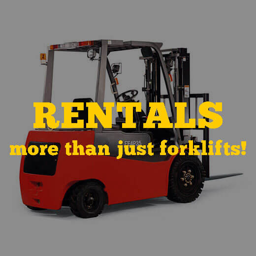 Rentals - more than just forklifts!