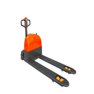 orange and black pallet jack